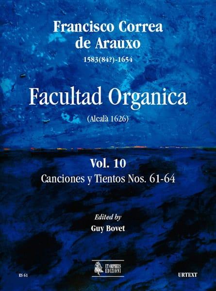 de Arauxo Francisco Correa - Facultad Organica Volume 10 - Partition - di-arezzo.com