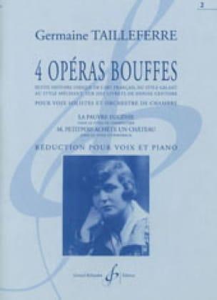 Germaine Tailleferre - 4 Bouffes Operas - Volume 2 - Partition - di-arezzo.com