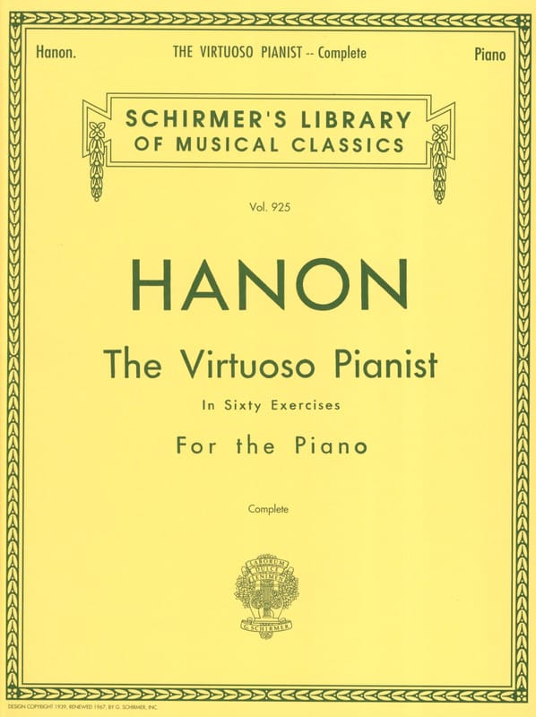 Le Pianiste Virtuose en 60 Exercices - HANON - laflutedepan.com