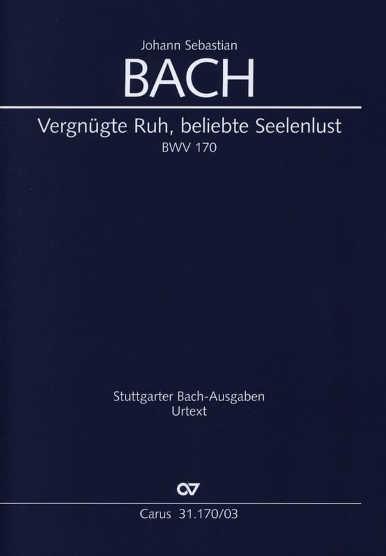 BACH - Cantate 170. Vergnügte Ruh, Beliebte Seelenlust - Partition - di-arezzo.com