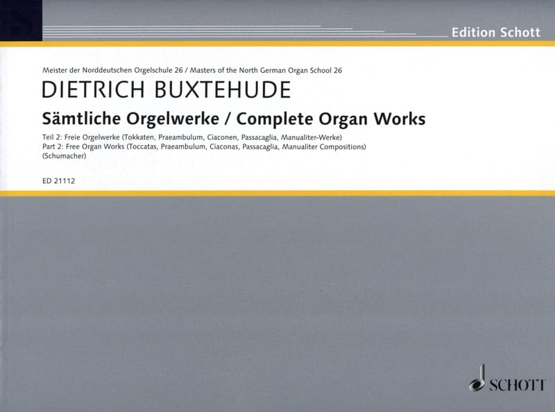 Œuvre D'orgue Complète Volume 2 - BUXTEHUDE - laflutedepan.com