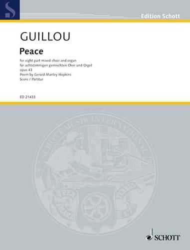 Peace - Jean Guillou - Partition - Chœur - laflutedepan.com