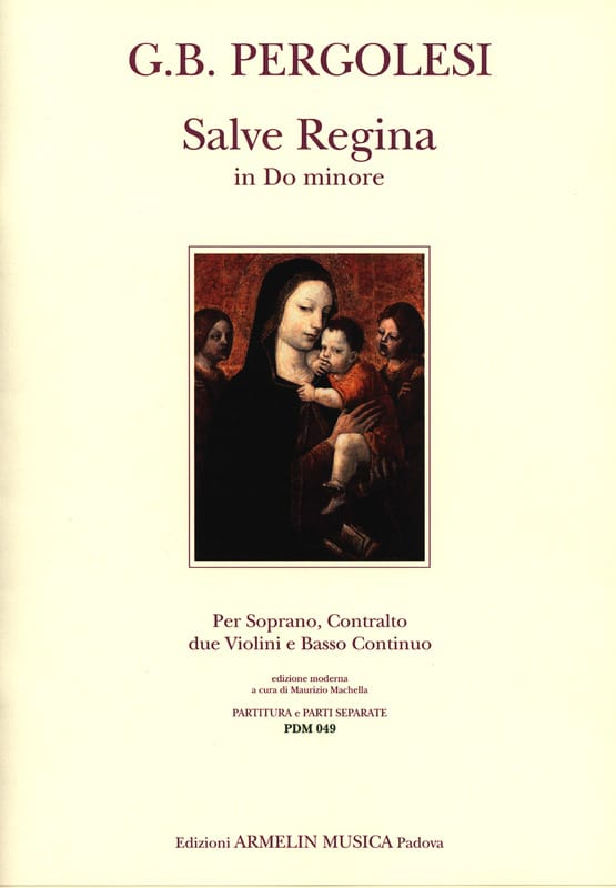 Giovanni Battista Pergolese - Salve Regina In C Minor For 2 Voices - Partition - di-arezzo.co.uk