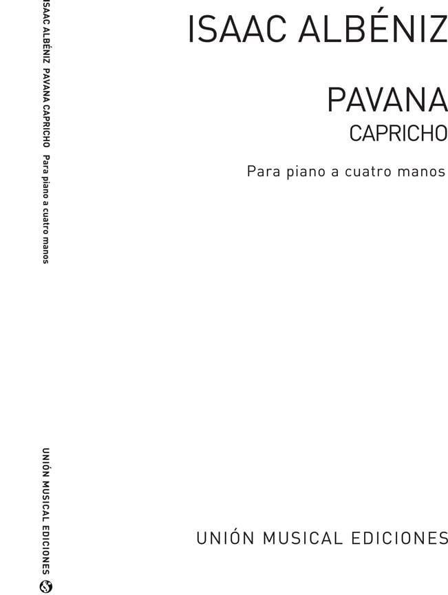 Pavana Capricho Opus 12. 4 mains - ALBENIZ - laflutedepan.com