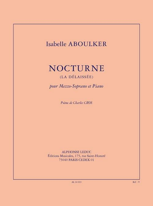 Isabelle Aboulker - Nocturne The Neglected - Partition - di-arezzo.com