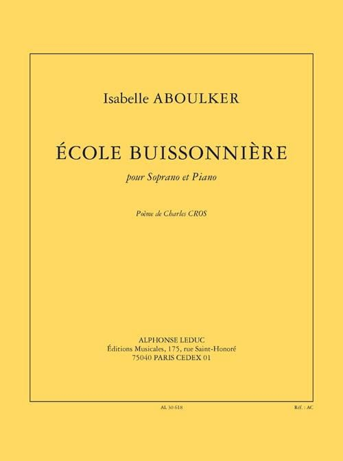 Isabelle Aboulker - School Buissonnière - Partition - di-arezzo.com