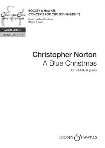 A Blue Christmas - Christopher Norton - Partition - laflutedepan.com