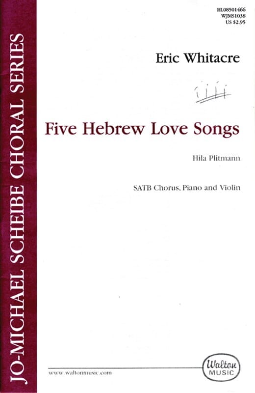Eric Whitacre - 5 Hebrew Love Songs. SATB - Partition - di-arezzo.co.uk
