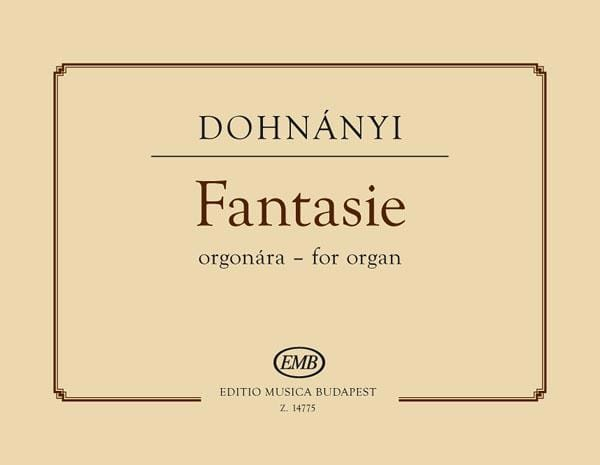 Fantasie - DONHANYI - Partition - Orgue - laflutedepan.com