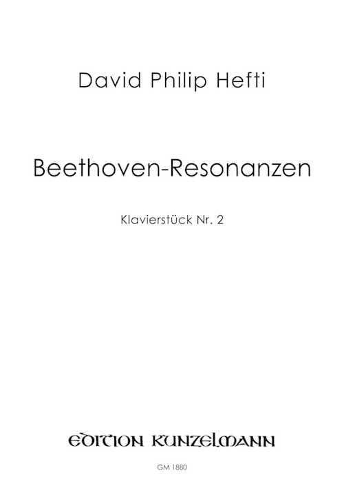 ßeethoven-Resonanzen - David Philip Hefti - laflutedepan.com