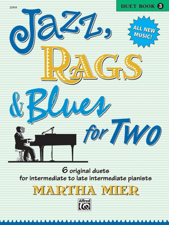 Jazz, Rags And Blues For Two Volume 3 - Martha Mier - laflutedepan.com