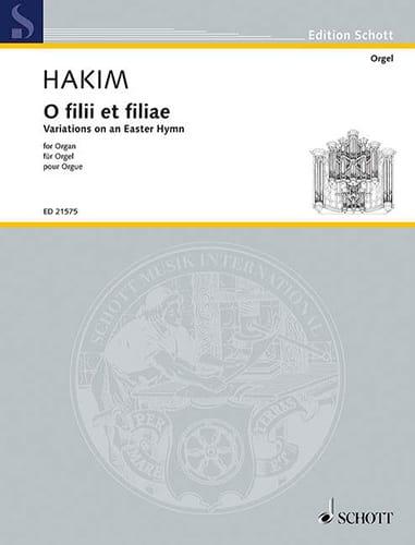 Naji Hakim - O Filii y Filiae - Partition - di-arezzo.es