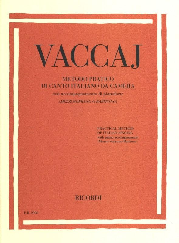 Nicola Vaccai - Practical method of Italian Mezzo-Soprano-Baritone Singing - Partition - di-arezzo.com