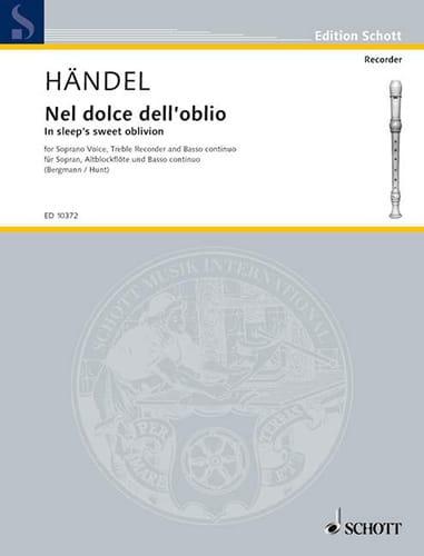 Nel Dolce Dell'oblio - HAENDEL - Partition - laflutedepan.com