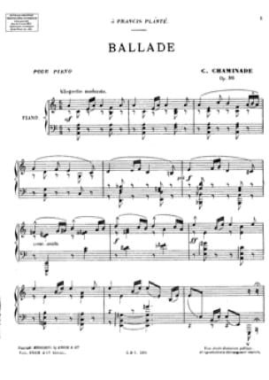 Ballade Op. 86 - Cécile Chaminade - Partition - laflutedepan.com