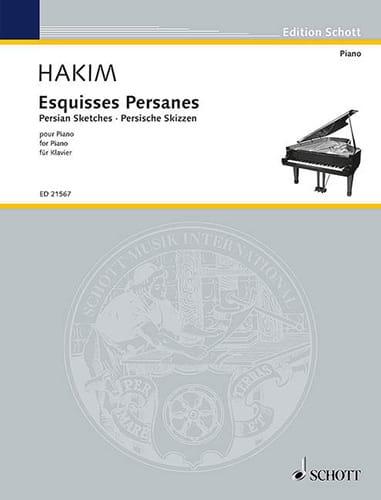 Esquises persanes - Naji Hakim - Partition - Piano - laflutedepan.com