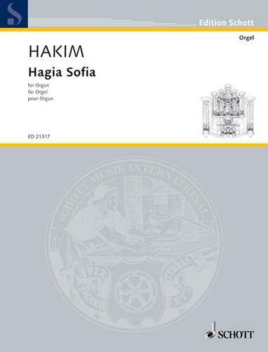 Hagia Sofia - Naji Hakim - Partition - Orgue - laflutedepan.com