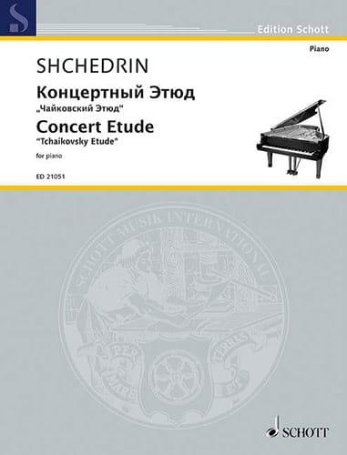 Etude de concert - Rodion Chedrin - Partition - laflutedepan.com