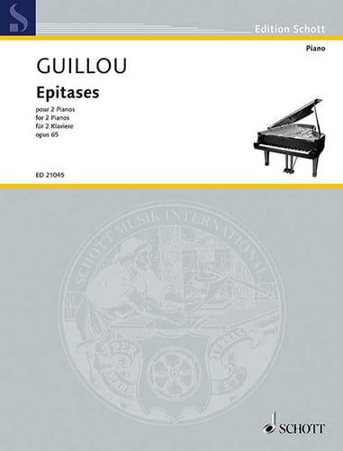 Epitases op. 65. 2 pianos - Jean Guillou - laflutedepan.com