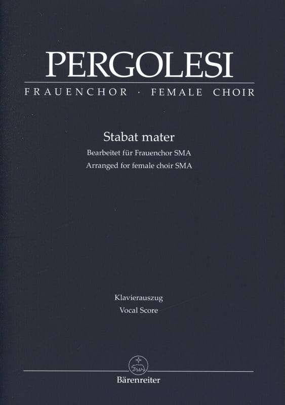 Stabat mater - PERGOLESE - Partition - Chœur - laflutedepan.com
