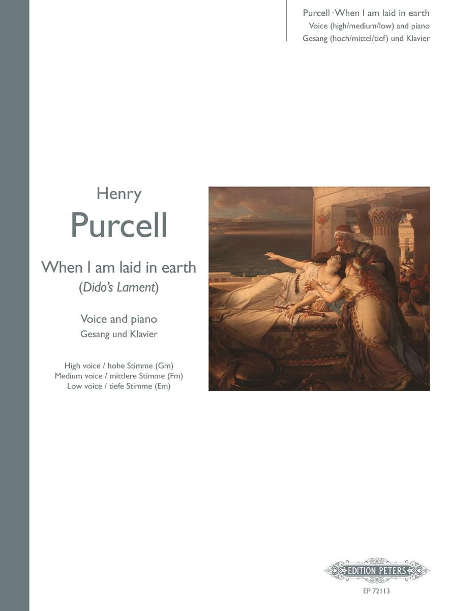 Henry Purcell - When I Am Laid In Earth. Dido and Aeneas - Partition - di-arezzo.co.uk