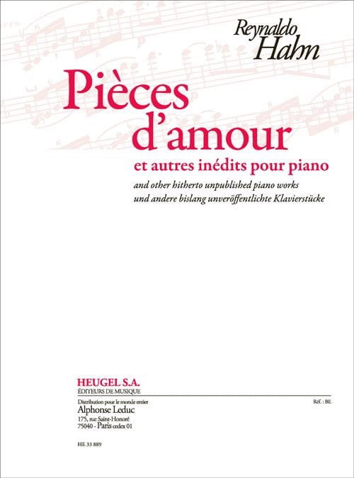 Pièces d'amour et autres inédits pour piano - laflutedepan.com