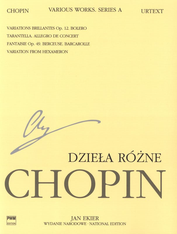 Pièces variées Série A - CHOPIN - Partition - laflutedepan.com