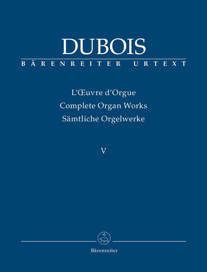 Oeuvre d'Orgue. Volume 5 - Théodore Dubois - laflutedepan.com