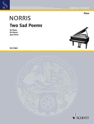 Two Sad Poems - Jeremy Norris - Partition - Piano - laflutedepan.com