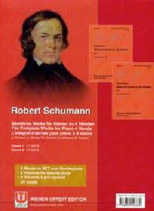 Werke für Klavier. 4 mains - SCHUMANN - Partition - laflutedepan.com