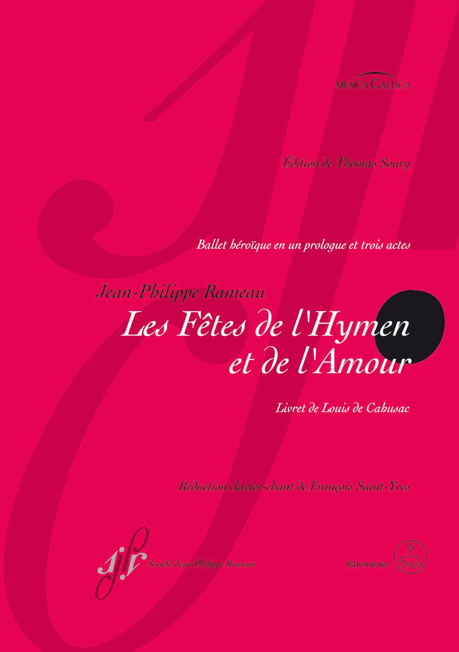 Jean-Philippe Rameau - The Hymen and Love Celebrations - Partition - di-arezzo.co.uk