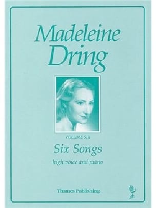 6 songs - Madeleine Dring - Partition - Mélodies - laflutedepan.com
