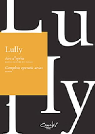 Jean-Baptiste Lully - Opera tunes for high-counter and high - Partition - di-arezzo.com