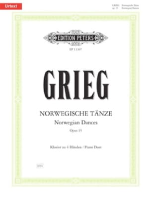 Edward Grieg - Norwegian dances Opus 35. 4 hands - Partition - di-arezzo.co.uk