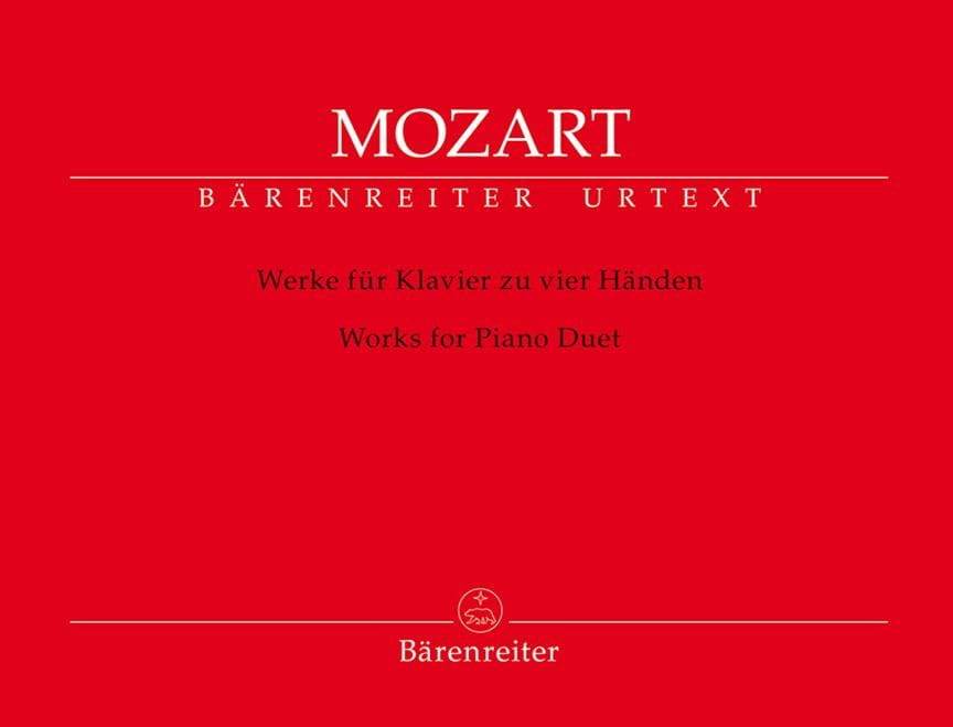 MOZART - Works for piano with 4 hands - Partition - di-arezzo.co.uk