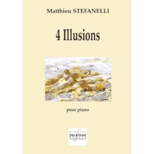 4 illusions - Matthieu Stefanelli - Partition - laflutedepan.com
