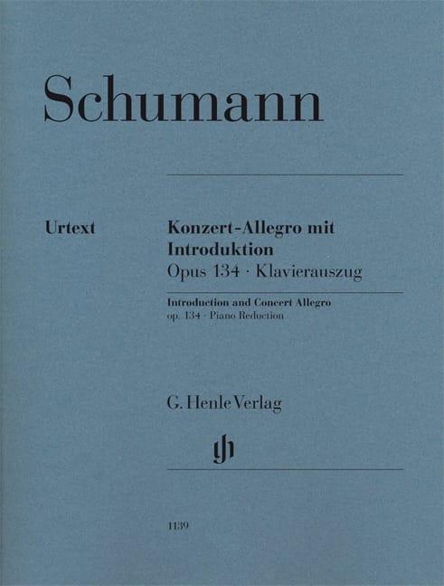 Konzert allegro mit introduction op. 134 - SCHUMANN - laflutedepan.com