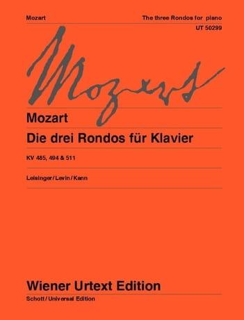 3 Rondos - MOZART - Partition - Piano - laflutedepan.com