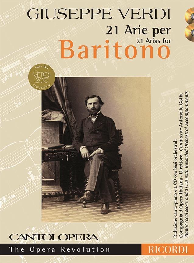 21 arie pour Baryton + 2 CD - VERDI - Partition - laflutedepan.com