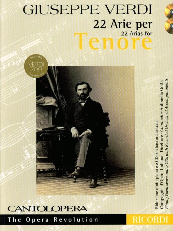 22 Arie pour Ténor - VERDI - Partition - Opéras - laflutedepan.com