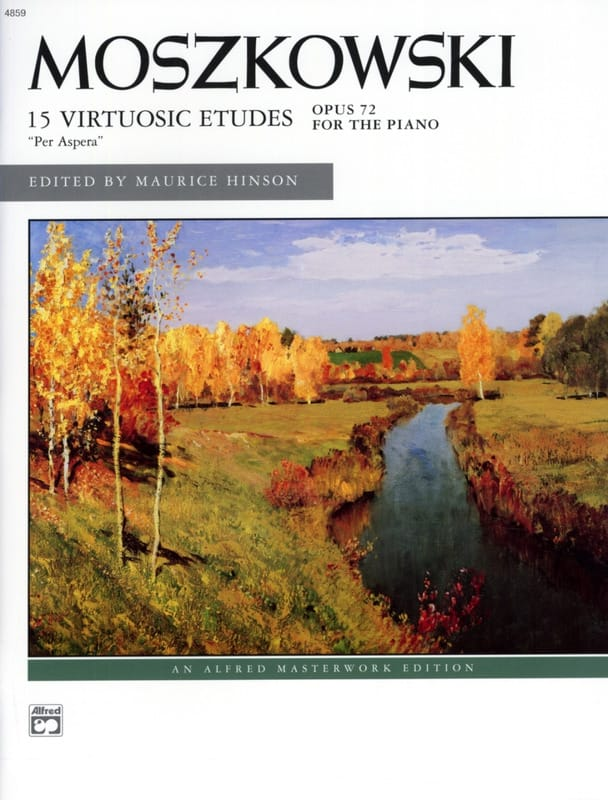 Moritz Moszkowski - 15 études de virtuosité Opus 72 - Partition - di-arezzo.fr