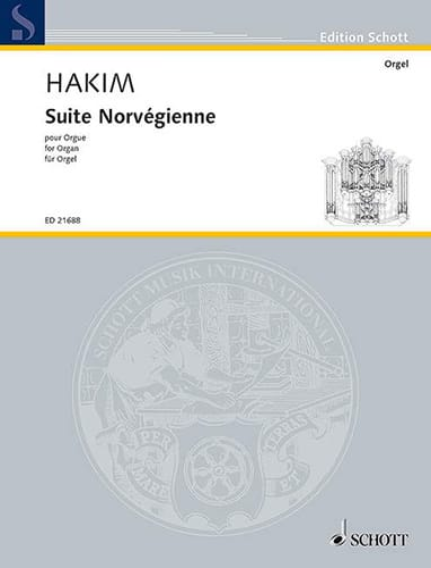 Suite norvégienne - Naji Hakim - Partition - Orgue - laflutedepan.com