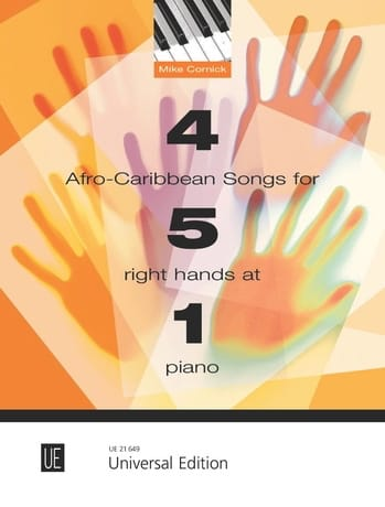 Mike Cornick - 4 Afro-Caribbean songs for 5 right hands at 1 piano - Partition - di-arezzo.co.uk