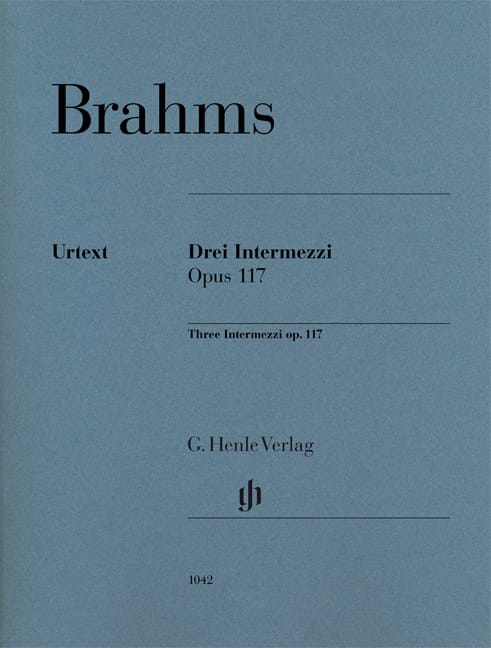 BRAHMS - 3 Intermezzi Opus 117 - Partition - di-arezzo.co.uk