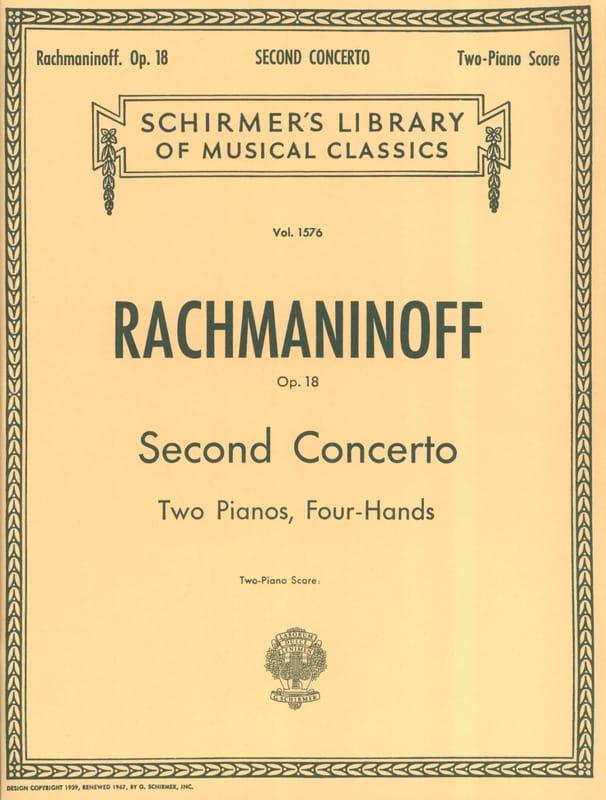 Concerto pour piano n° 2 Opus 18 - RACHMANINOV - laflutedepan.com