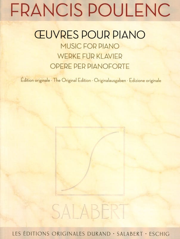 Francis Poulenc - Piano Works - Partition - di-arezzo.co.uk
