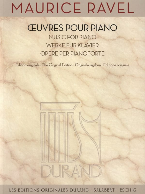 Maurice Ravel - Piano Works - Partition - di-arezzo.co.uk