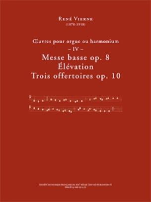 Oeuvres pour orgue. Volume 4 - René Vierne - laflutedepan.com