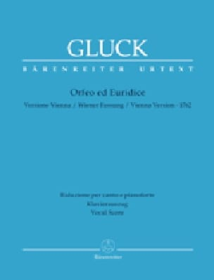 GLUCK - Orphée et Eurydice Urtext - Partition - di-arezzo.fr