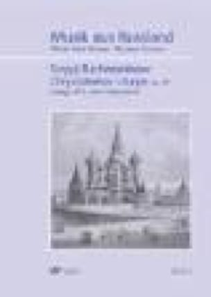 RACHMANINOV - Liturgy of St. John Chrysostom op. 31 - Partition - di-arezzo.com